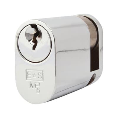 Eurospec Oval Single Cylinder - 5 Pin - 35 + 10mm - Polished Chrome - Keyed Alike