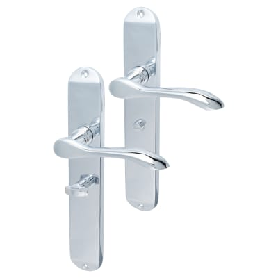 Elan Altea Door Handle - Bathroom Set - Polished Chrome