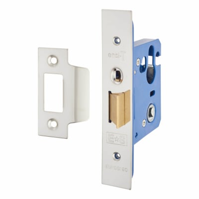 A-Spec Architectural Mortice Nightlatch - 68mm Case - 48mm Backset - Brushed Stainless