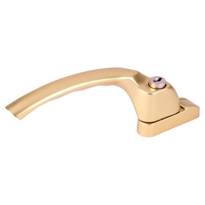 Hoppe Locking Espagnolette Handle - Left Hand - uPVC / Timber - Anodised Gold