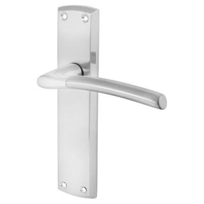 Morello Venice Door Handle - Latch Set - Polished/Satin Chrome