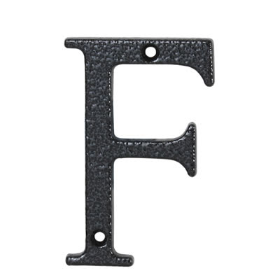 76mm Letter - F - Antique Black Iron