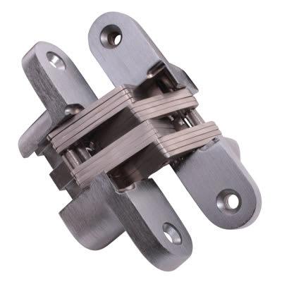 Tago Concealed Hinge - 117 x 25mm - Satin Chrome - Pair