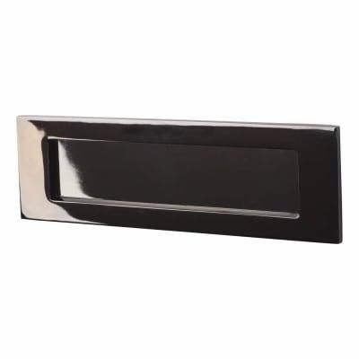 Letter Plate - 254 x 79mm - Black Nickel
