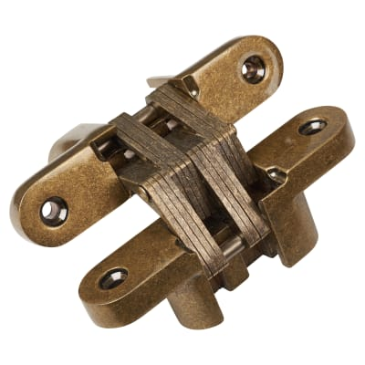 Tago Concealed  Hinge - 117 x 25mm - Antique Brass - Pair