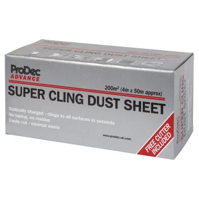 Super Cling Dust Sheet Roll - 200 sqm - 4m x 50m