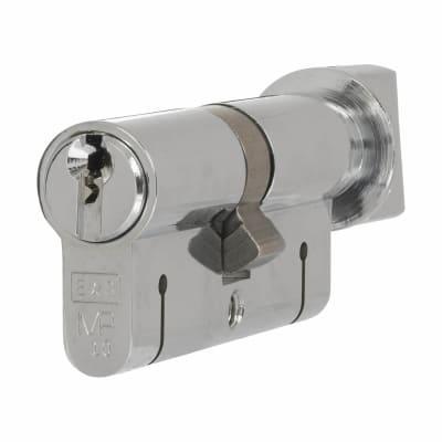 Eurospec 15 Pin 64mm Euro Thumbturn Cylinder - 32mm [Turn] + 32mm - Polished Chrome - Master Keyed