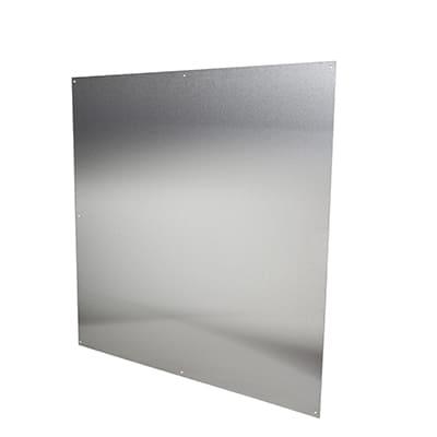 Half door panel kick plate - 838 x 838mm - Satin Stainless Steel