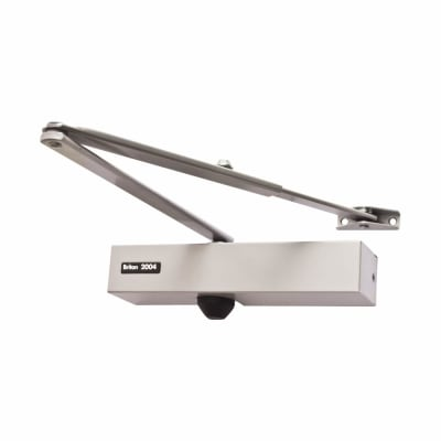 Briton 2004 Door Closer - Silver Arm - Silver Cover