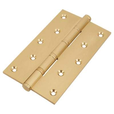 Performance Ball Bearing Hinge - 152 x 89 x 4mm - Satin Brass - Pair