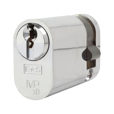 Eurospec Oval Single Cylinder - 10 Pin - 35 + 10mm - Polished Chrome - Master Keyed