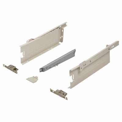 Blum METABOX BLUMOTION Soft Close Drawer Pack - Single Extension - 86mm (H) x 350mm (D) - 30kg