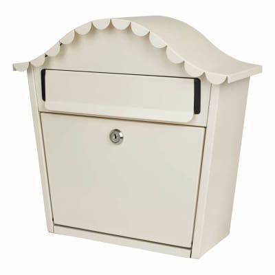 London Letter Box - 330 x 340 x 130mm - Buttermilk White