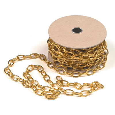 Brass Oval Chain - 19mm - 10 metres - Polished Brass