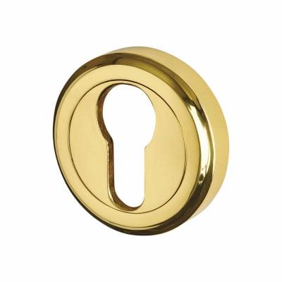 M Marcus Escutcheon - Euro - Polished Brass