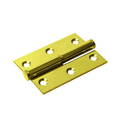 Lift-Off Hinge - 75 x 53 x 2mm - Right Hand - PVD Brass - Pair