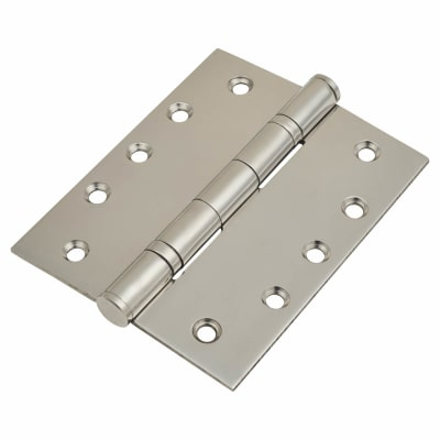 Heavy Duty Ball Bearing Hinge - 127 x 102 x 3mm - Polished Stainless Steel - Pair
