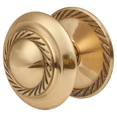 Touchpoint Budget Georgian Cabinet Knob - 50mm - Polished Brass