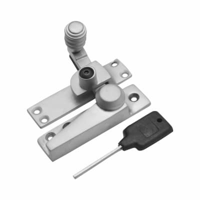 London Beehive Pattern Locking Fastener - 20mm - Satin Chrome