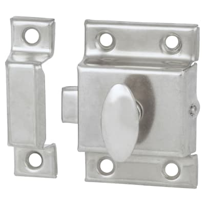 Cupboard Box Catch - 50 x 50mm - Nickel Plated