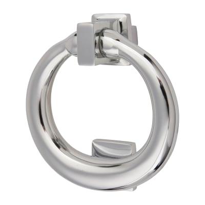 Morello Ring Door Knocker - 115 x 100mm - Polished Chrome