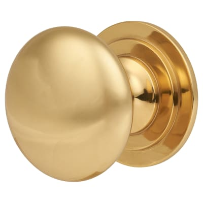 Touchpoint Victorian Turned Cabinet Knob - 44mm - Polished Brass