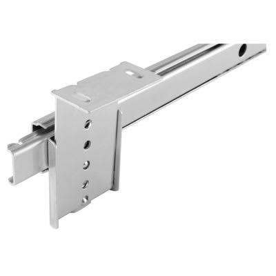 Motion 27mm Ball Bearing Keyboard Slide - Adjustable Height Brackets - 15kg - 450mm - Zinc