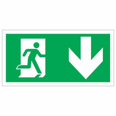 Running Man Down - 150 x 300mm - Rigid Plastic