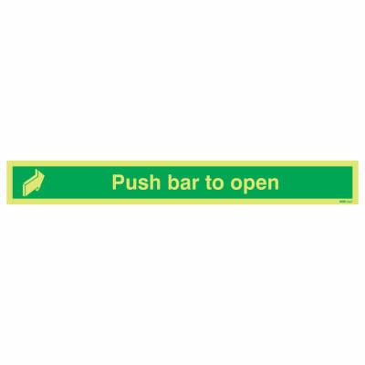 NITE-GLO Push Bar to Open - 75 x 600mm