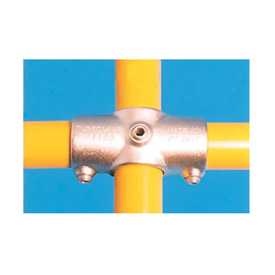 2 Socket Cross Connector with Through Centre Tube