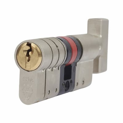 ERA 3 Star Fortress Euro Thumbturn Cylinder - 70mm Length - 35mm [Turn] + 35mm - Nickel and Brass