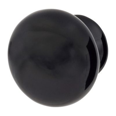 Elan Ceramic/Porcelain Cabinet Knob - 40mm - Black