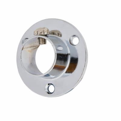 Tube End Socket Pack With Locking Grub Screws - 25mm - Chrome - Pack 2
