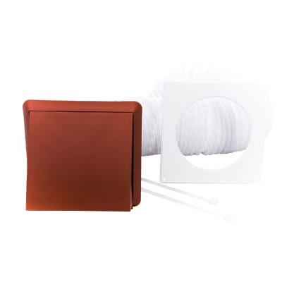 Rytons 100mm Venting Kit with Cowled Grille (3m L Duct) - Terracotta