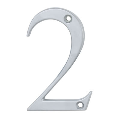 76mm Numeral - 2 - Satin Chrome