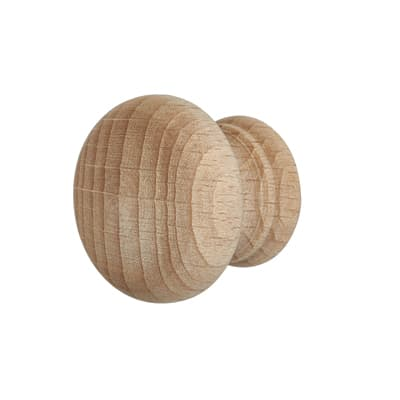 Touchpoint Wooden Cabinet Knob - 30mm - Beech - Pack 5
