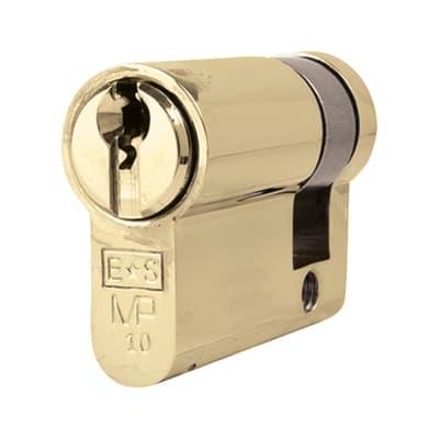 Eurospec Euro Single Cylinder - 10 Pin - 32 + 10mm - Polished Brass - Master Keyed