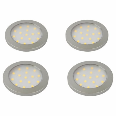 Sensio Pinto LED Under Cabinet Spotlight - Round - Cool White - Includes Driver - Pack 4