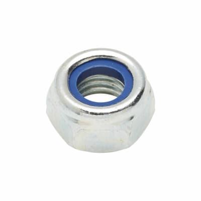 Self Locking Nut Nylon Insert - M8 - Zinc Plated - Pack 25