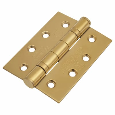 Enduro Twin Ball Bearing Hinge - 102 x 76 x 3mm - Brass Plated 304 Stainless Steel - Pair