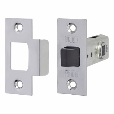 UNION® 2648 Tubular Mortice Latch - 64mm Case - 44mm Backset - Silver Enamel