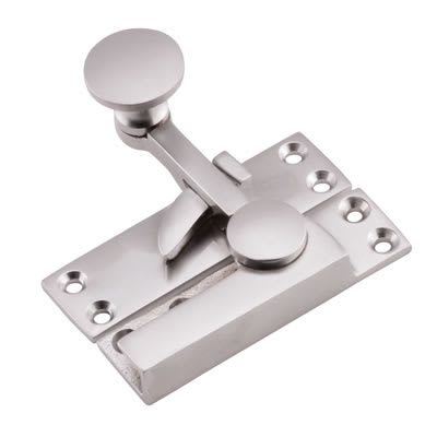 Quadrant Arm Sash Fastener - 72mm - Satin Chrome