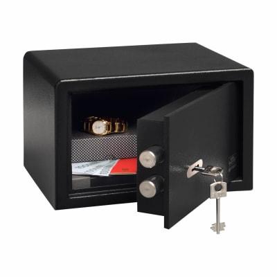 Burg Wächter P 1 S PointSafe Key Operated Safe - 180 x 280 x 200mm - Black