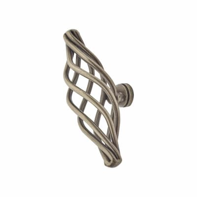 Touchpoint Cage Oval Cabinet Knob - 72mm - Polished Steel
