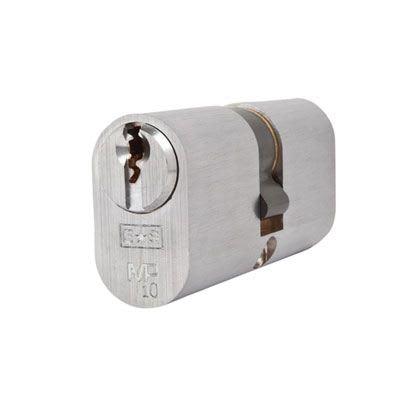 Eurospec MP10 - Oval Double Cylinder - 32 + 32mm - Satin Chrome  - Master Keyed