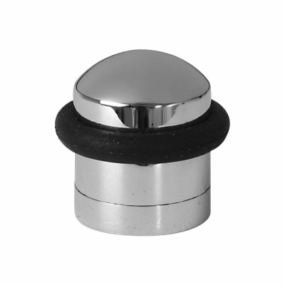 Designer Floor Door Stop - 30 x 37mm - Polished Chrome