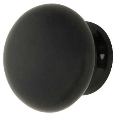 Elan Ceramic/Porcelain Cabinet Knob - 35mm - Black