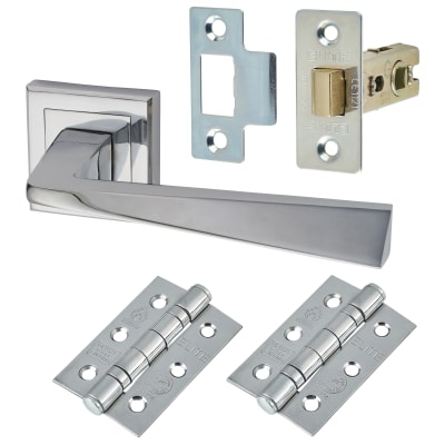 Morello Origin Lever Door Handles on Rose - Door Kit - Polished Chrome