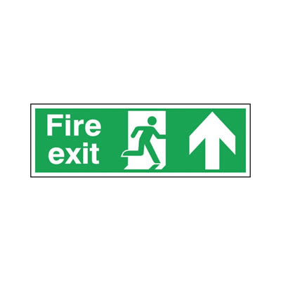 Double Sided Fire Exit - Up Arrow