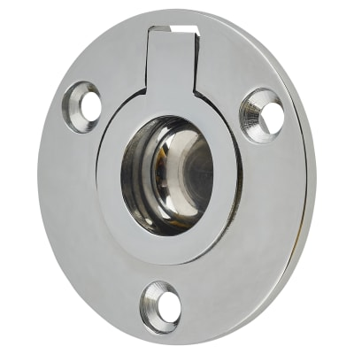 Round Flush Ring Pull - 45mm - Polished Chrome